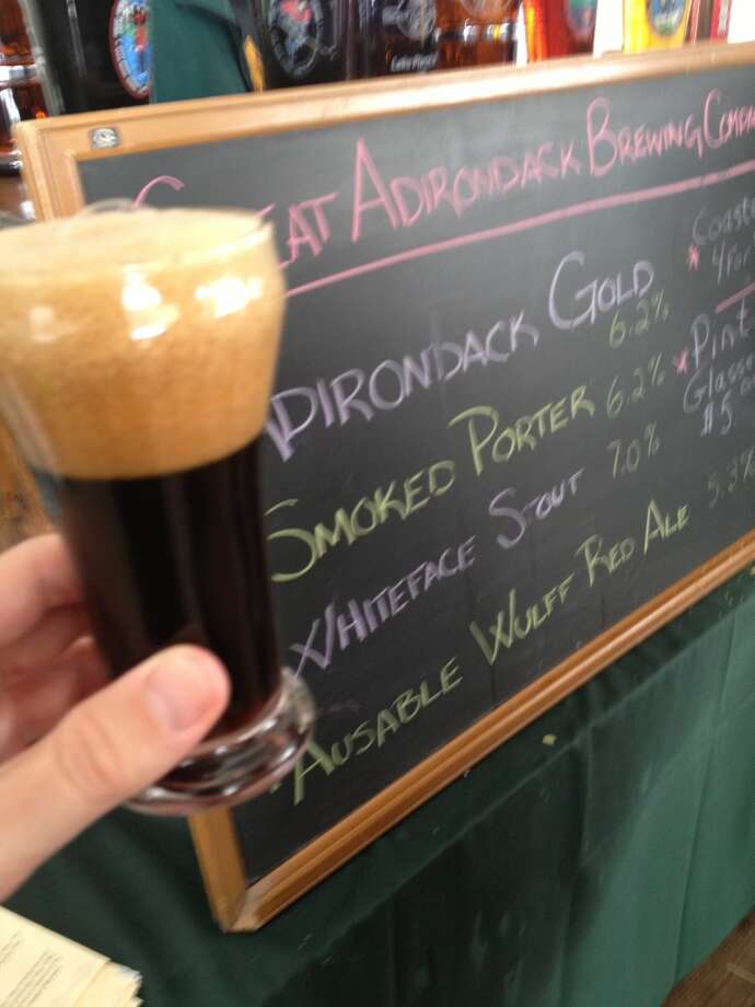 Great Adirondack Brewing's smoked porter. Heavy on the smoke, light on the porter.