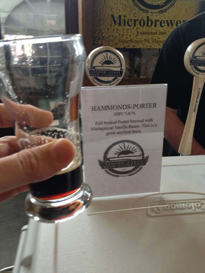 "Finger Lakes' ""Hammonds Porter."" Reminds me of my chocolate homebrew only done correctly"