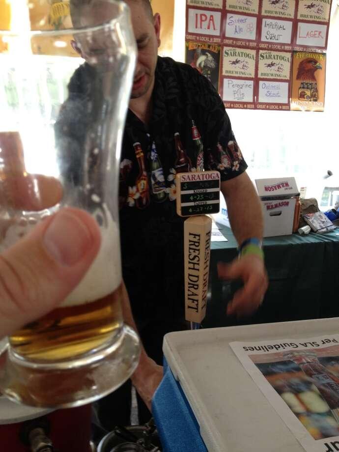 Olde Saratoga's new summer ale. It's a kolsch. Nuff said.