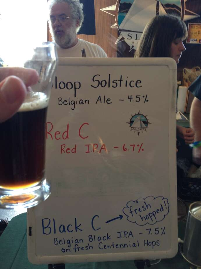 Sloop Brewing's Belgian Black IPA - THIS is what my last homebrew was supposed to be! In other words - great!
