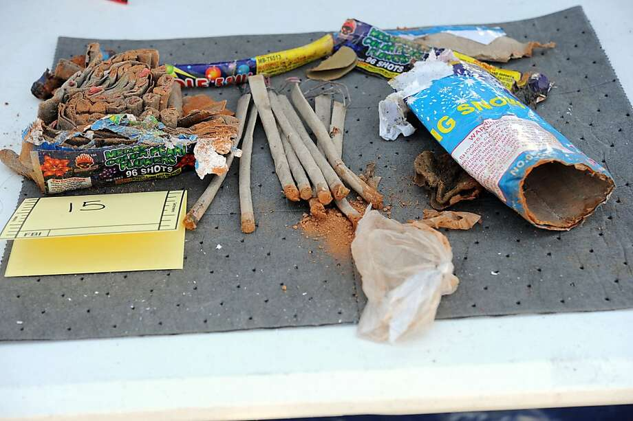 "This May 1, 2013 FBI handout image released in a criminal complaint, shows fireworks tubes found in a backpack that was disposed of by friends of Boston Marathon bomber Dzhokhar Tsarnaev. Three 19-year-old students -- two Kazakhs and an American -- were charged Wednesday with covering up for the suspected Boston marathon bombers, the US Justice Department said. Dias Kadyrbayev and Azamat Tazhayakov were accused of conspiring to destroy a laptop and backpack containing fireworks belonging to the suspected bombers, Dzhokhar and Tamerlan Tsarnaev. Robel Phillipos, an American, was charged with making false statements to law enforcement officials.       == RESTRICTED TO EDITORIAL USE / MANDATORY CREDIT: ""AFP PHOTO / FBI"" / NO MARKETING / NO ADVERTISING CAMPAIGNS / DISTRIBUTED AS A SERVICE TO CLIENTS == QUALITY REPEATHO/AFP/Getty Images Photo: Ho, AFP/Getty Images"
