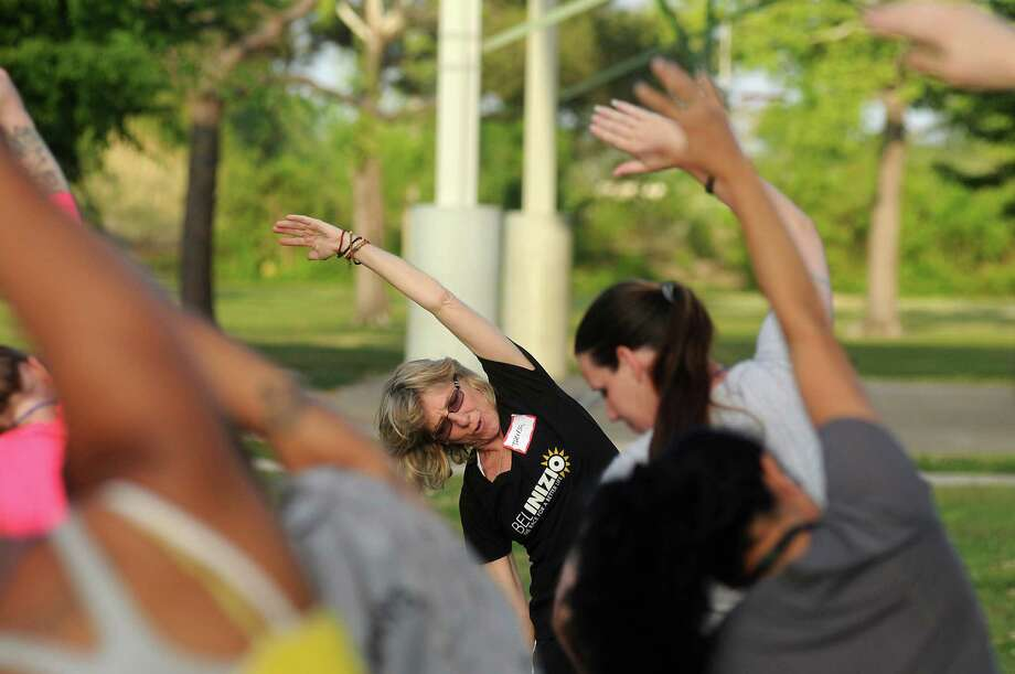 """Theresa Strong founded Bel Inizio, Italian for """"beautiful beginning,"""" to help women in a residential treatment program for drug and alcohol dependency. The group meets twice a week in Shady Lane Park to train for a 5K run/walk. Photo: Dave Rossman, Freelance / © 2013 Dave Rossman"""