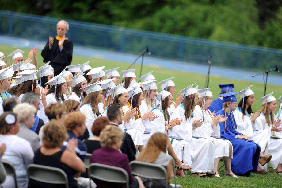 No. 15: Between the years of 1960 and 2010, the town of Seymour grew by 64 percent, from 10,100 people to 16,540.  Seymour High School holds its commencement ceremony Tuesday, June 19, 2012 at the school in Seymour, Conn.