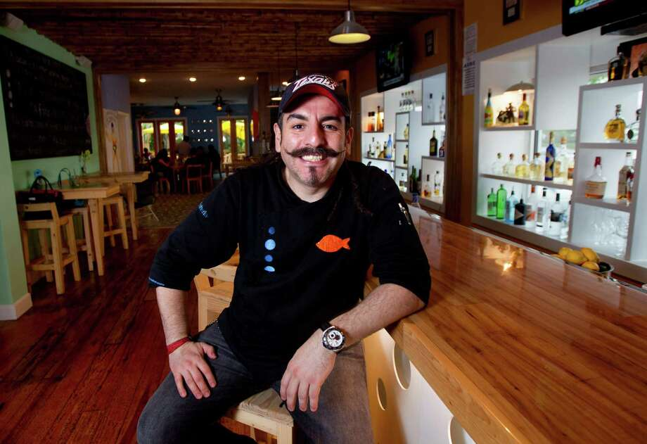Aquiles Chavez will be serving authentic pozole in addition to cocktails such as maragaritas and palomas in his Heights-area restaurant, La Fisheria, for Cinco de Mayo. Photo: Cody Duty, Staff / © 2013 Houston Chronicle