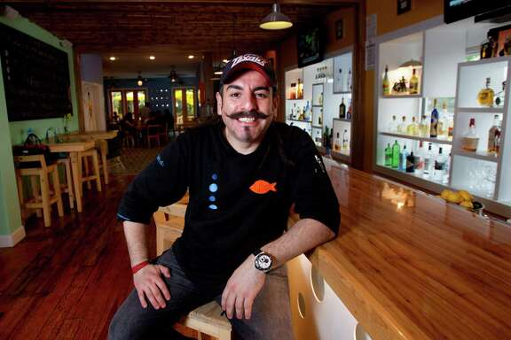 Aquiles Chavez will be serving authentic pozole in addition to cocktails such as maragaritas and palomas in his Heights-area restaurant, La Fisheria, for Cinco de Mayo.