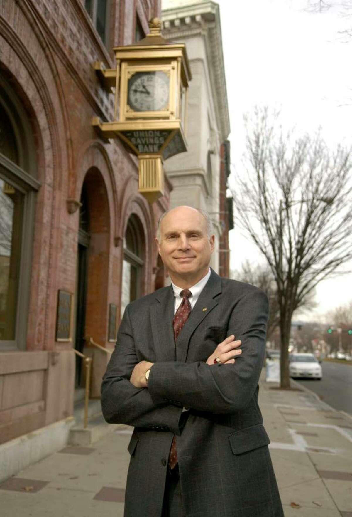 John Kline the President and CEO of Union Savings Bank on Main St Danbury