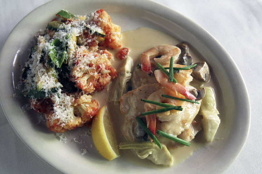 Shrimp and chicken picatta is one of the dishes available at Bella ... on the River. Photo: Express-News File Photo