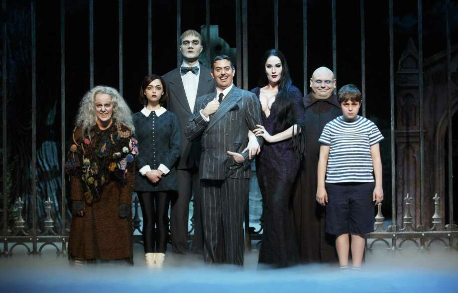 "Jesse Sharp and Houston-raised Keleen Snowgren portray Gomez and Morticia Addams in the touring version of ""The Addams Family."" Photo: Courtesy Carol Rosegg"