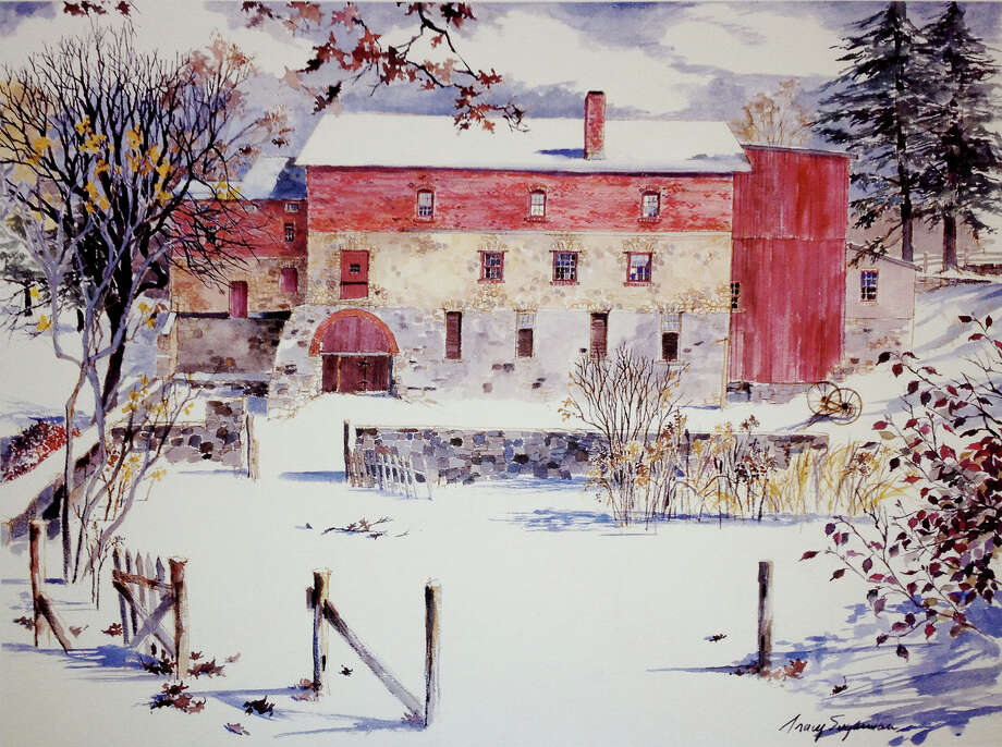 This winter farm scene is among works by the late Tracy Sugarman that will be exhibited May 11 and 12 at the 11th annual Mothers Day Weekend Art Show sponsored by the Friends of Hall-Brooke. Photo: Contributed Photo / Westport News contributed