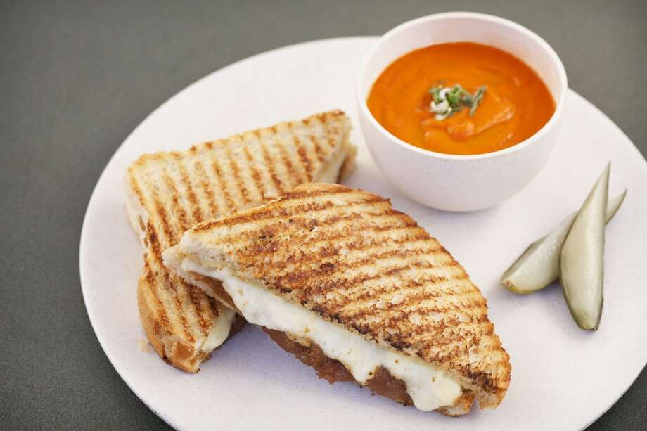 Grilled cheese and tomato soup, on the menu at Cindy's Waterfront. AQ