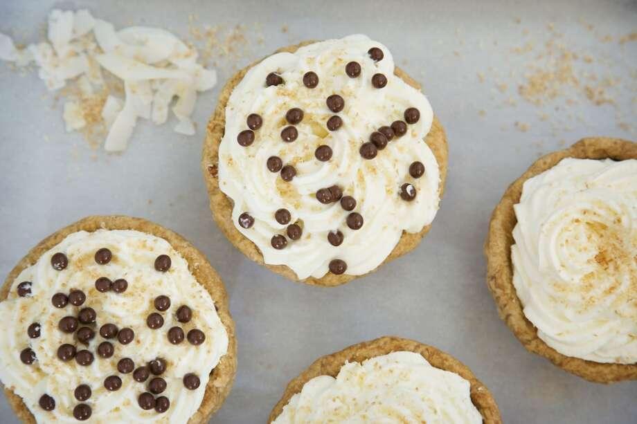 Individual Coconut Cream Pies.