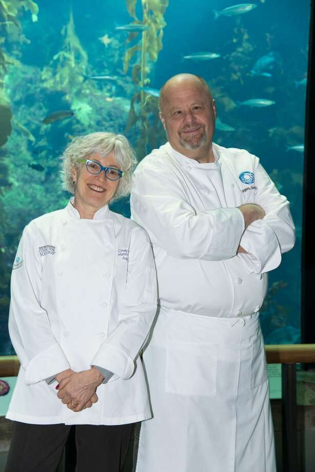 Culinary Partner Cindy Pawlcyn & Executive Chef Jeff Rogers of the new Monterey Bay Aquarium restaurant, Cindy's Waterfront.