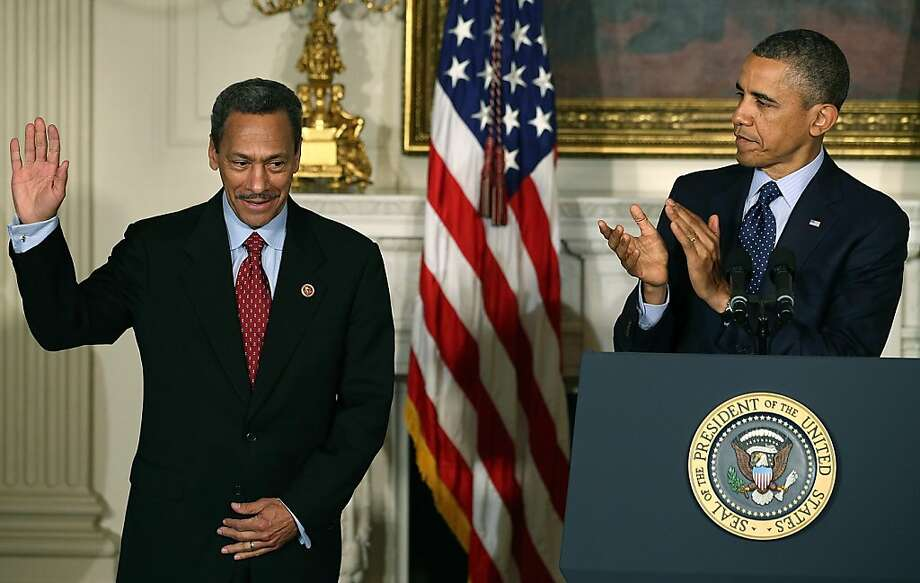 President Obama (right) nominates Rep. Mel Watt, D-N.C., as director of the Federal Housing Finance Agency. Photo: Mark Wilson/Getty Images, McClatchy-Tribune News Service