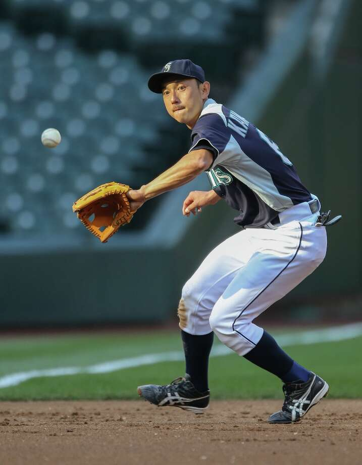 Munenori Kawasaki #61 of the Seattle Mariners takes infield practice prior to the game against the Baltimore Orioles at Safeco Field on September 17, 2012 in Seattle, Washington. Photo: Otto Greule Jr, Getty Images / 2012 Getty Images