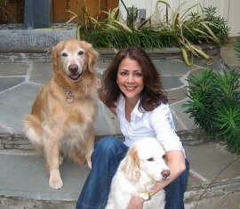 Celeste Perry and her dogs Ginger and Jake