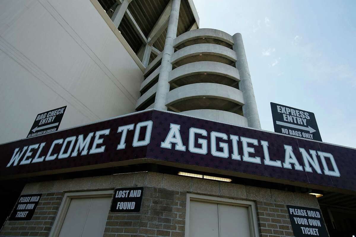 An exterior of the stadium before the start of Texas A&M Maroon & White spring football game at Kyle Field on April 13, 2013, in College Station.