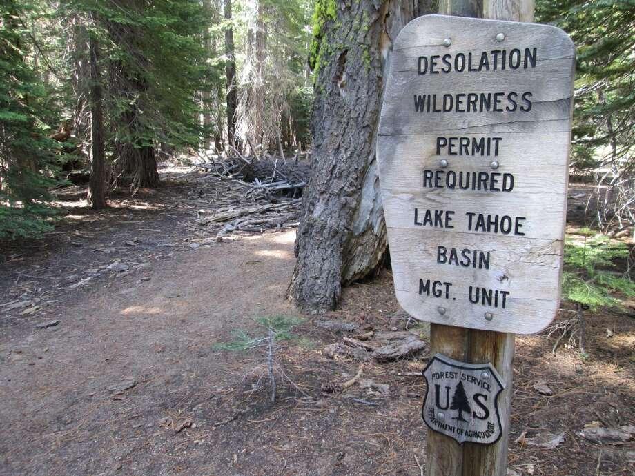 Wilderness boundary for Desolation Wilderness