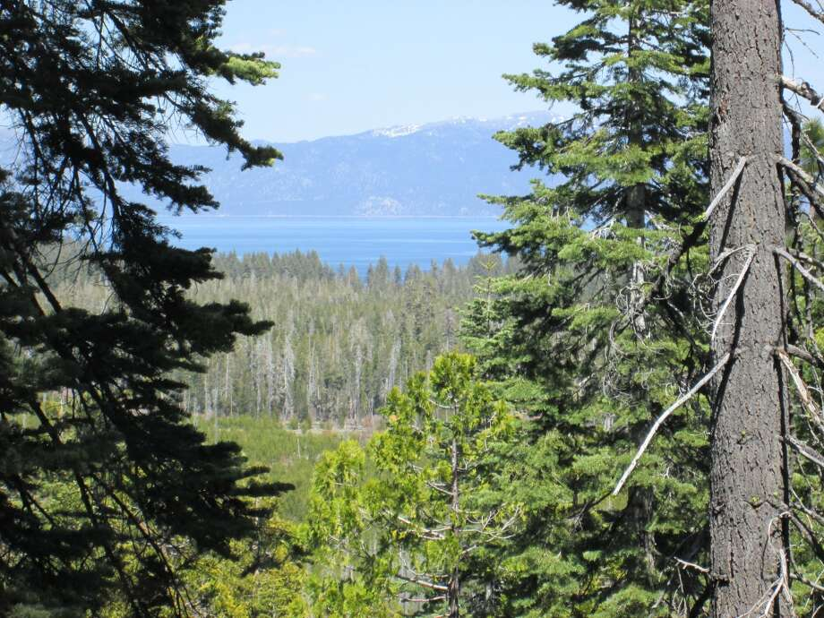 . . . and then turn for a pretty glimpse of Lake Tahoe