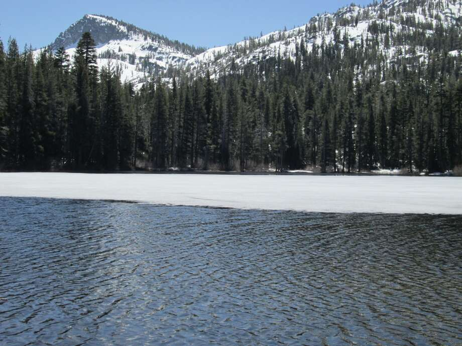 . . . Lake Genevieve, at ice out, at 7,430 feet