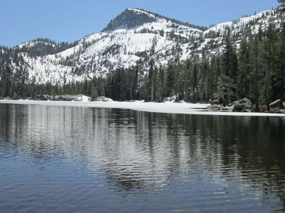 . . . gorgeous Crag Lake at 7,500 feet -- it's unheard of to get access this high in Desolation Wilderness so early in the season