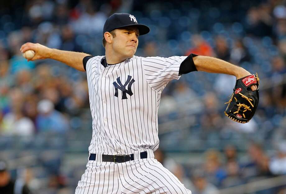 May 1: Yankees 5, Astros 4David Phelps #41 of the Yankees pitches in the first inning against the Astros. Photo: Mike Stobe, Getty Images