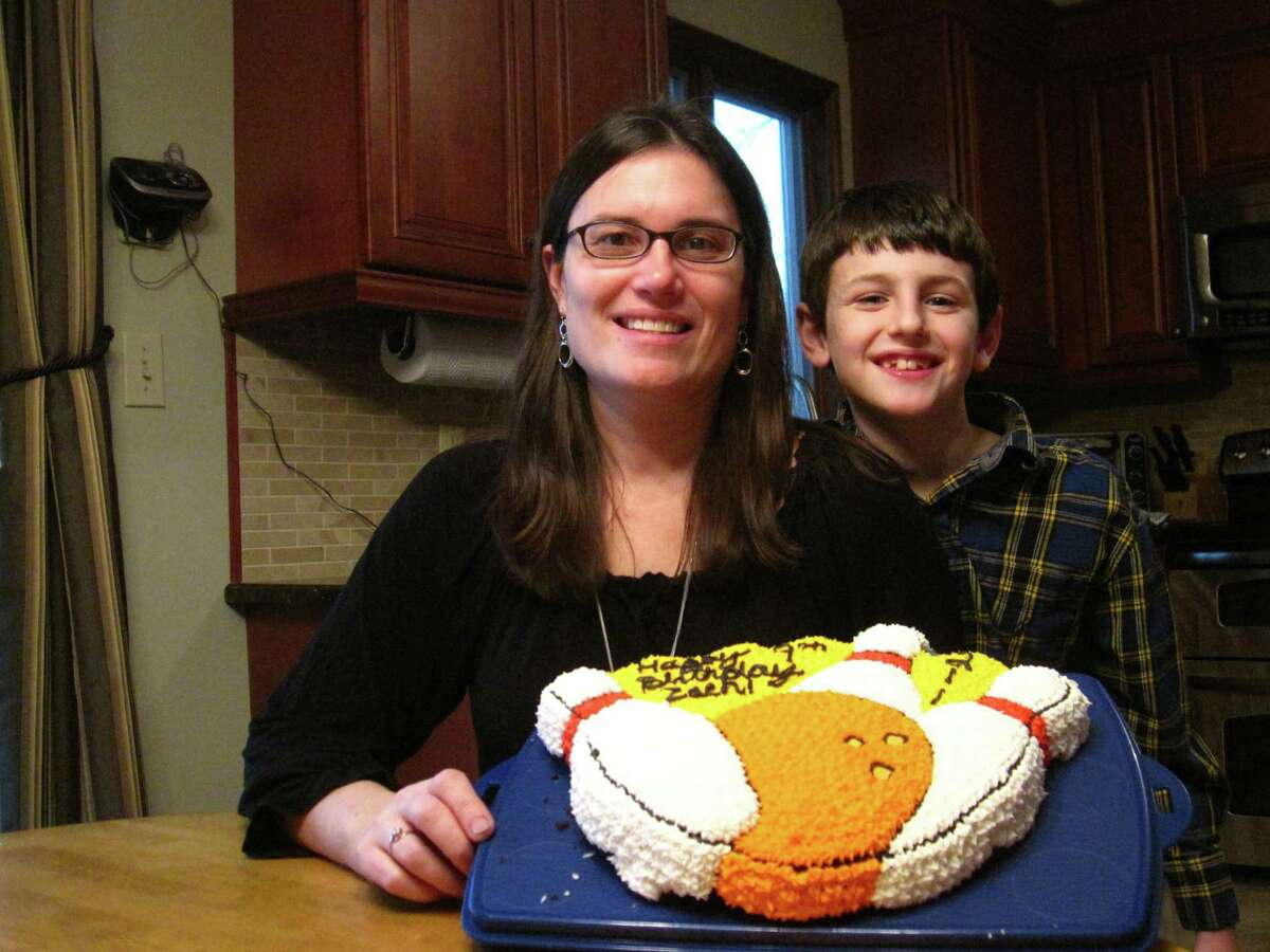 Cheryl Fruiterman made a homemade cake for her son Zach's 9th birthday. The cake was free of the milk, eggs and nuts, which he is allergic to. Awareness of food allergies is high, Fruiterman, and people are supportive of the adaptations Zach has to make. (Courtesy Cheryl Fruiterman)