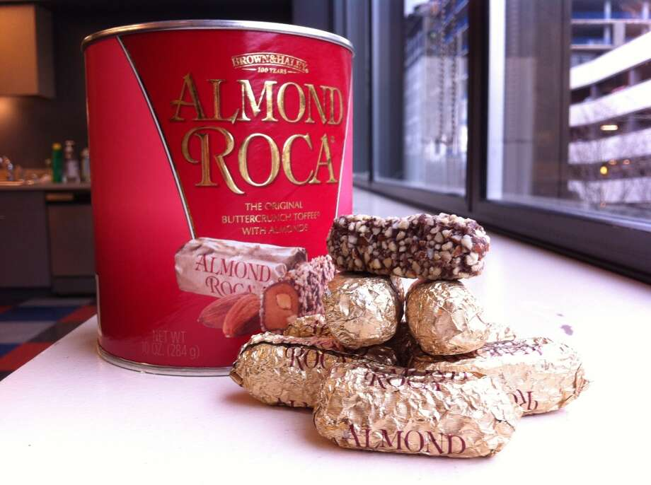 Almond Roca: If your grandma always had a tin of this stuff around the holidays, you can thank Brown & Haley in Tacoma. They've been making the candy since 1923, with fans ranging from World War II troops to a lot of people in Asia.