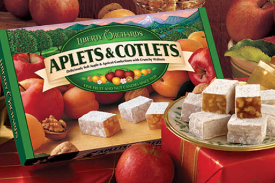 Aplets & Cotlets: Here's another local candy cherished by out-of-towners and people of a certain age. Modeled after the Middle Eastern treat Turkish Delight, the candies were created before World War II and are made by Liberty Orchards in Cashmere, Wash.