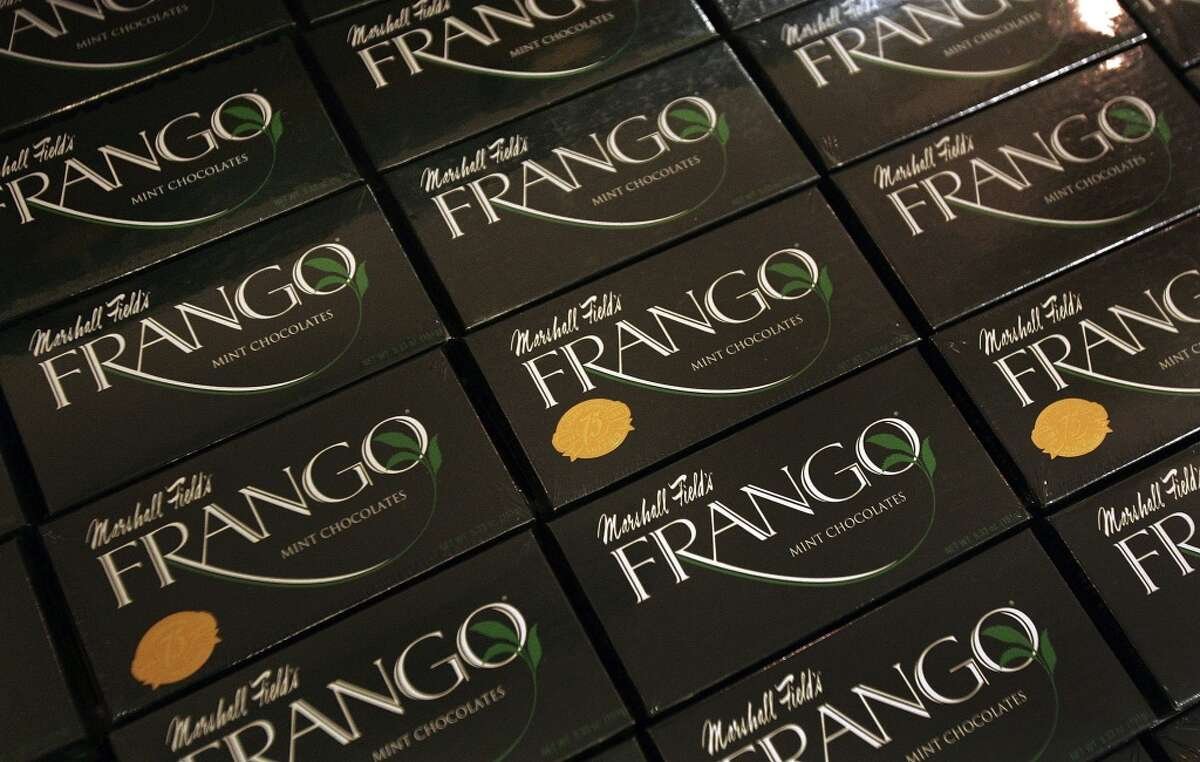 Frango chocolates  Incidentally, this one was a near miss. Frederick & Nelson had churned out the chocolates, and the department store's collapse almost spelled the end of the Frango. Instead, as The Seattle Times tells it, a Seattle bankruptcy judge saved the treat by passing it on to Bon Marche, which had paid $2 million to sell Frangos. In Feb. 2017, Chicago- and Hong Kong-based Garrett Brands acquired the Frango brand from Macy's Inc.