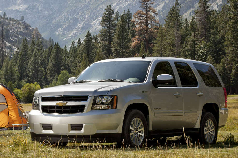 Sales of the midsize Chevy Tahoe SUV rose 55 percent in April compared to the same month last year. Photo: General Motors Co.