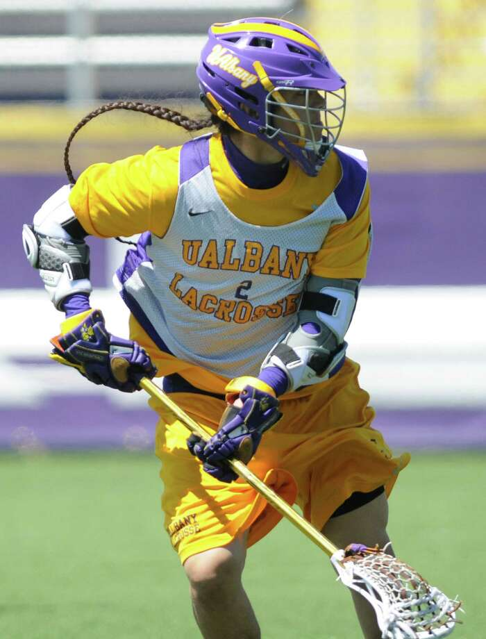 UAlbany lacrosse player Miles Thompson during practice on Tuesday, April 30, 2013 in Albany, N.Y.  (Lori Van Buren / Times Union) Photo: Lori Van Buren / 10022211A