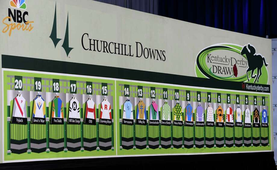The field is set after the post position draw May 1, 2013,  for the 139th running of The Kentucky Derby at Churchill Downs in Louisville, KY.   The morning line favorite is Orb at 7/2.   (Skip Dickstein/Times Union) Photo: SKIP DICKSTEIN