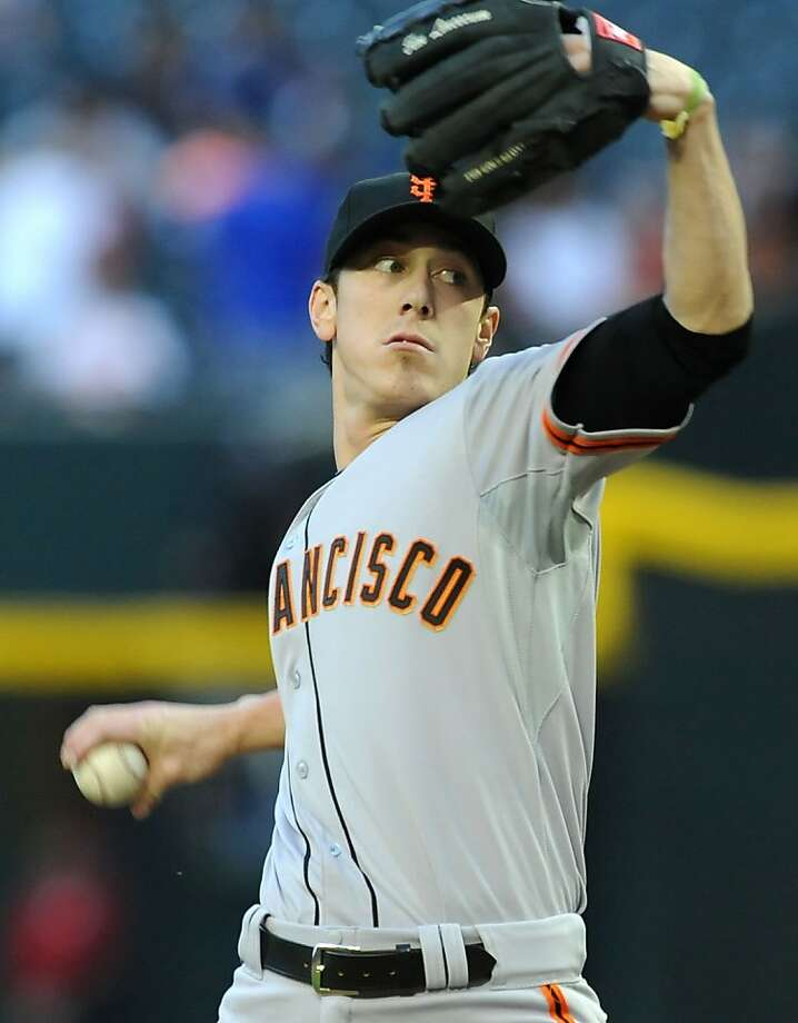 PHOENIX, AZ - MAY 01:  Tim Lincecum #55 of the San Francisco Giants delivers a pitch during the first inning against the Arizona Diamondbacks at Chase Field on May 1, 2013 in Phoenix, Arizona.  (Photo by Norm Hall/Getty Images) Photo: Norm Hall, Getty Images