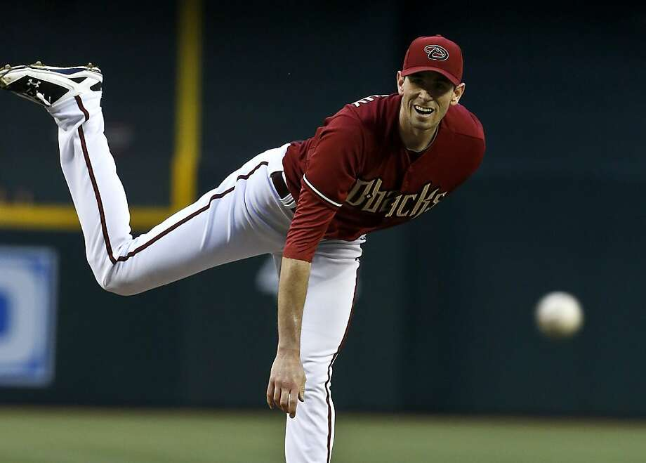 Arizona Diamondbacks' Brandon McCarthy throws a pitch against the San Francisco Giants during the first inning of a baseball game on Wednesday, May 1, 2013, in Phoenix. (AP Photo/Ross D. Franklin) Photo: Ross D. Franklin, Associated Press