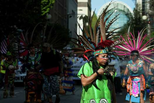 Dancers head up a peaceful May Day march. Photo: JORDAN STEAD, SEATTLEPI.COM / SEATTLEPI.COM