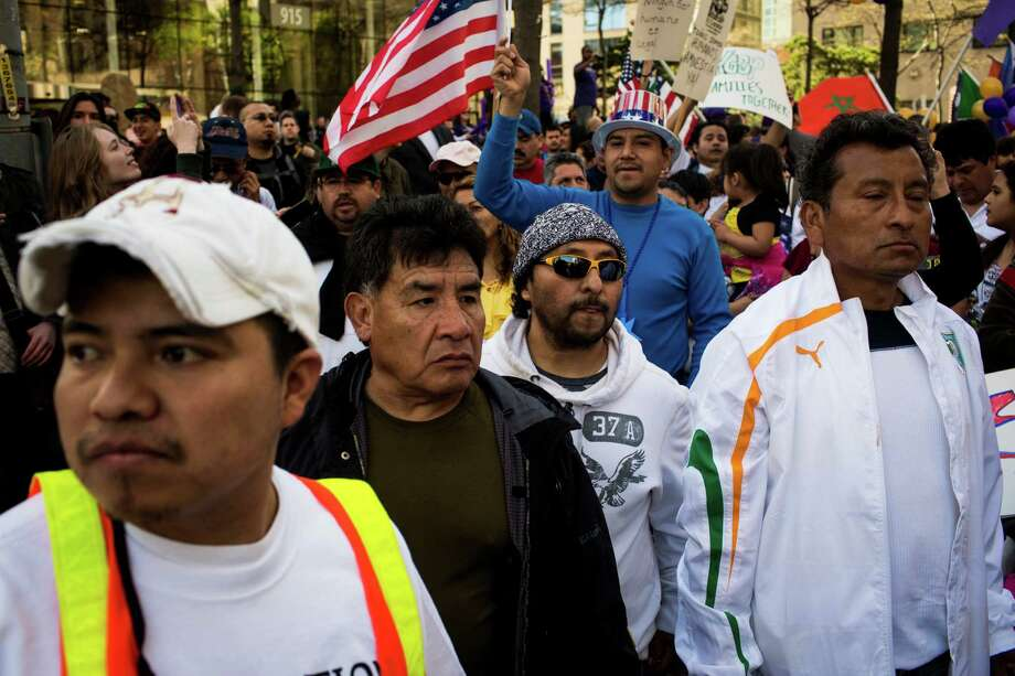 Thousands of marchers proceeded through downtown Seattle. Photo: JORDAN STEAD, SEATTLEPI.COM / SEATTLEPI.COM