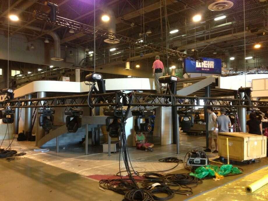 @vette4tk via Twitter: @FMC_Tech booth 1941 coming along at setup. See a peek at http://www.fmctechnologies.com/OTC  #OTCHOUSTON