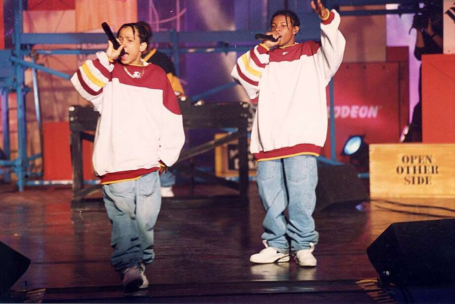 Kris Kross during 1993 Kid's Choice Awards in Los Angeles, California, United States. (Photo by Jeff Kravitz/FilmMagic, Inc)