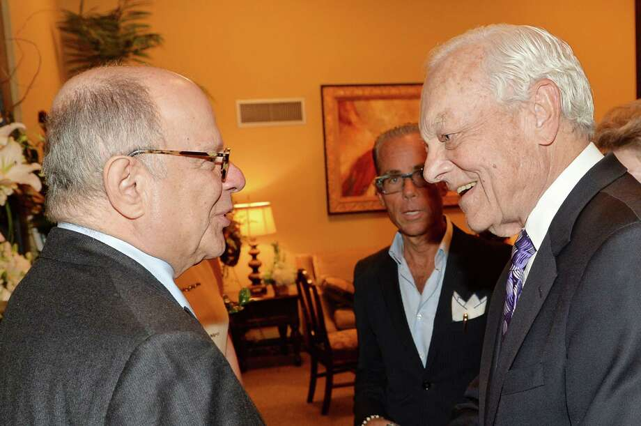 Entertainment attorney Joel Katz (L) and journalist Bob Schieffer attend the private visitation for George Jones on May 1, 2013 in Nashville, Tennessee. Jones passed away on April 26, 2013 at the age of 81. Photo: Rick Diamond, Getty / 2013 Getty Images