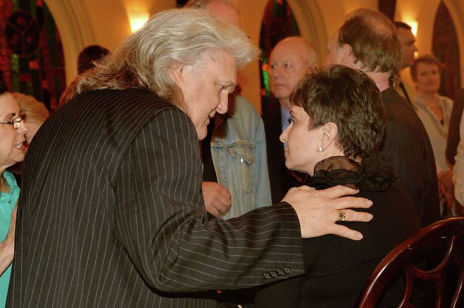 Country musician Ricky Skaggs and Nancy Jones attend the private visitation for George Jones on May 1, 2013 in Nashville, Tennessee. Jones passed away on April 26, 2013 at the age of 81. Photo: Rick Diamond, Getty / 2013 Getty Images