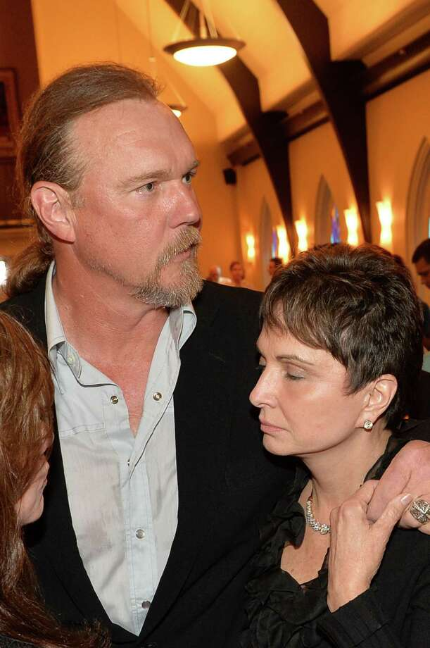 Country musician Trace Adkins and Nancy Jones attend the private visitation for George Jones on May 1, 2013 in Nashville, Tennessee. Jones passed away on April 26, 2013 at the age of 81. Photo: Rick Diamond, Getty / 2013 Getty Images