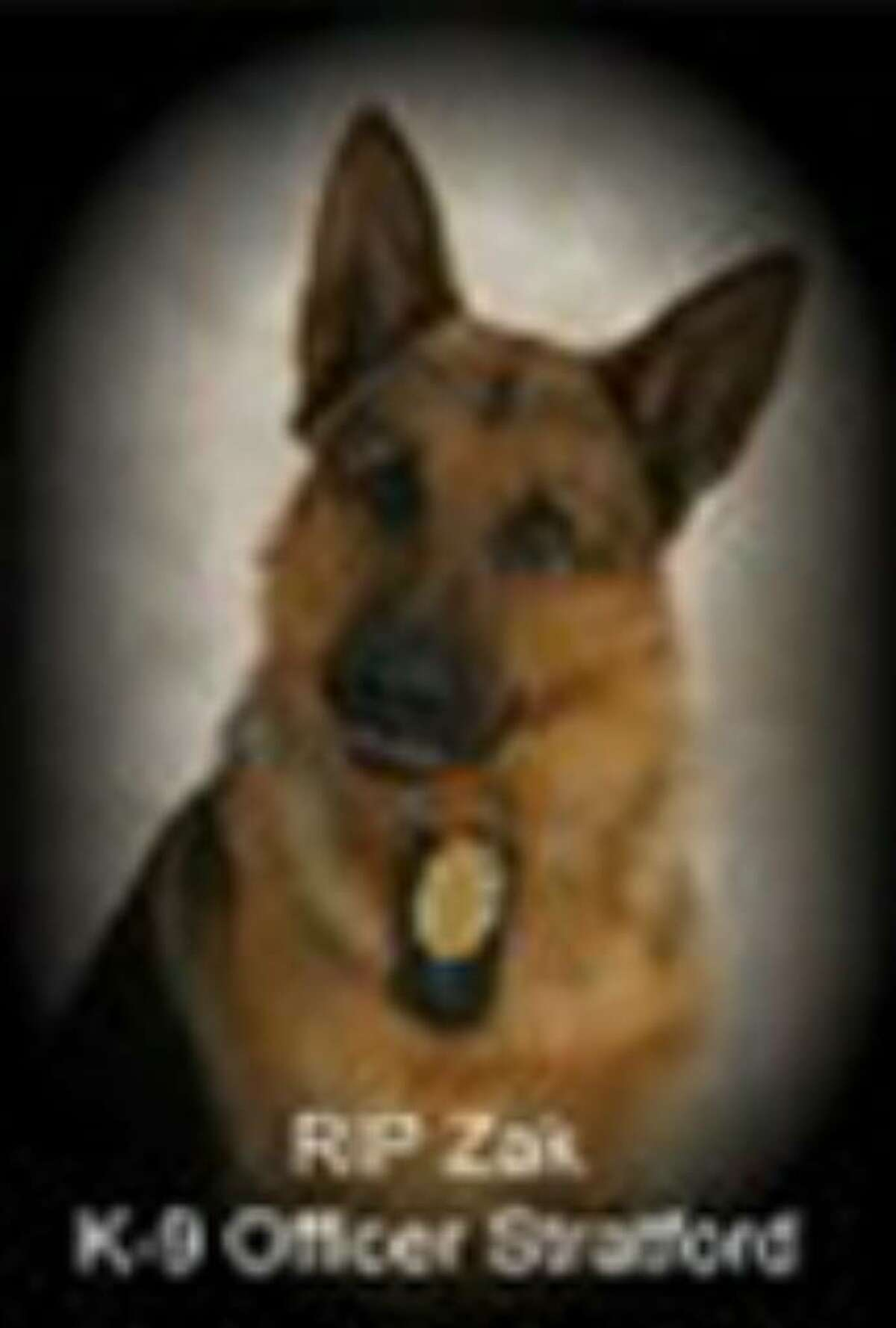 From the memorial on the Facebook page of Zak, the Stratford K-9