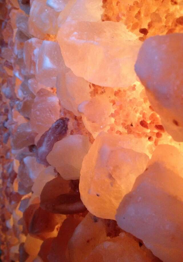 Himalayan salt crystals line the wall in the new salt therapy room at Ho'ola Spa at the Sheraton Kona Resort  on Keauhou Bay. The therapeutic salt room is the first of its kind in the Hawaiian islands.