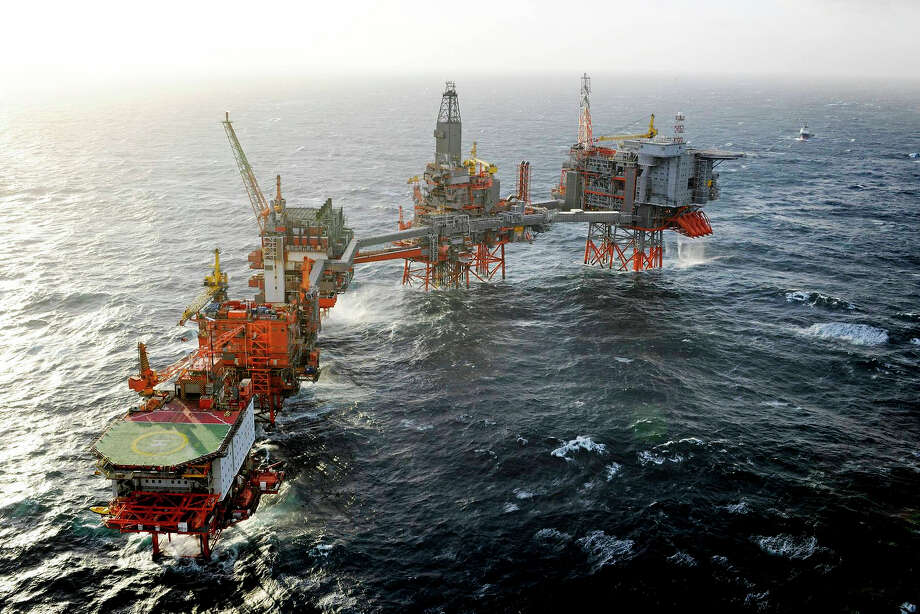Shown is BP's Valhall platform in the Norwegian North Sea.
