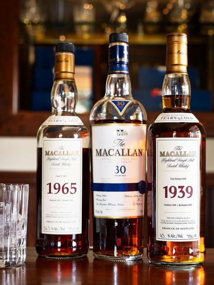 Macallan lineup.