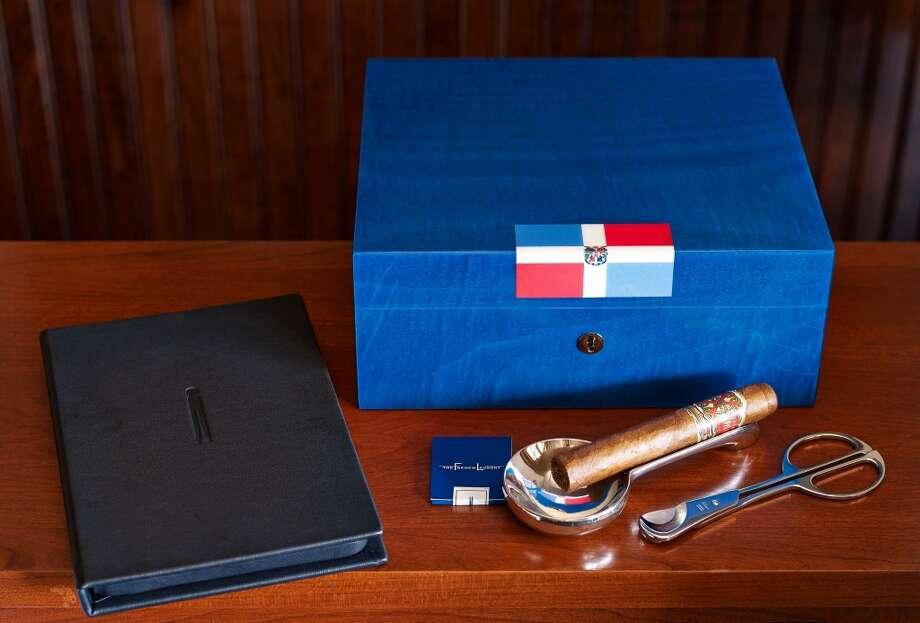 Custom-made cigar boxes.