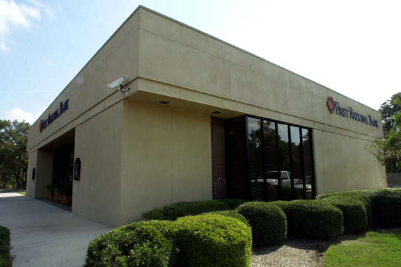 First National Bank at the San Antonio location on N. New Braunfels, Thursday, Nov. 8, 2001.