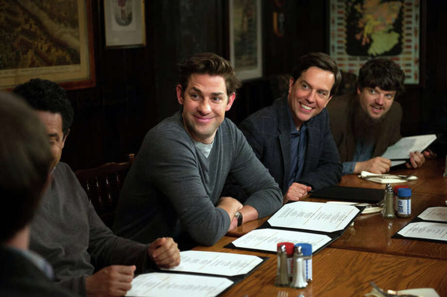 "THE OFFICE -- ""Finale"" Episode 924/925 -- Pictured: (l-r) John Krasinski as Jim Halpert, Ed Helms as Andy Bernard -- Photo: NBC, Colleen Hayes/NBC / 2013 NBCUniversal Media, LLC"