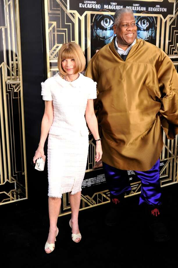 """NEW YORK, NY - MAY 01:  Editor-in-chief of American Vogue Anna Wintour and André Leon Talley attend the """"The Great Gatsby"""" world premiere at Avery Fisher Hall at Lincoln Center for the Performing Arts on May 1, 2013 in New York City.  (Photo by Stephen Lovekin/Getty Images)"""