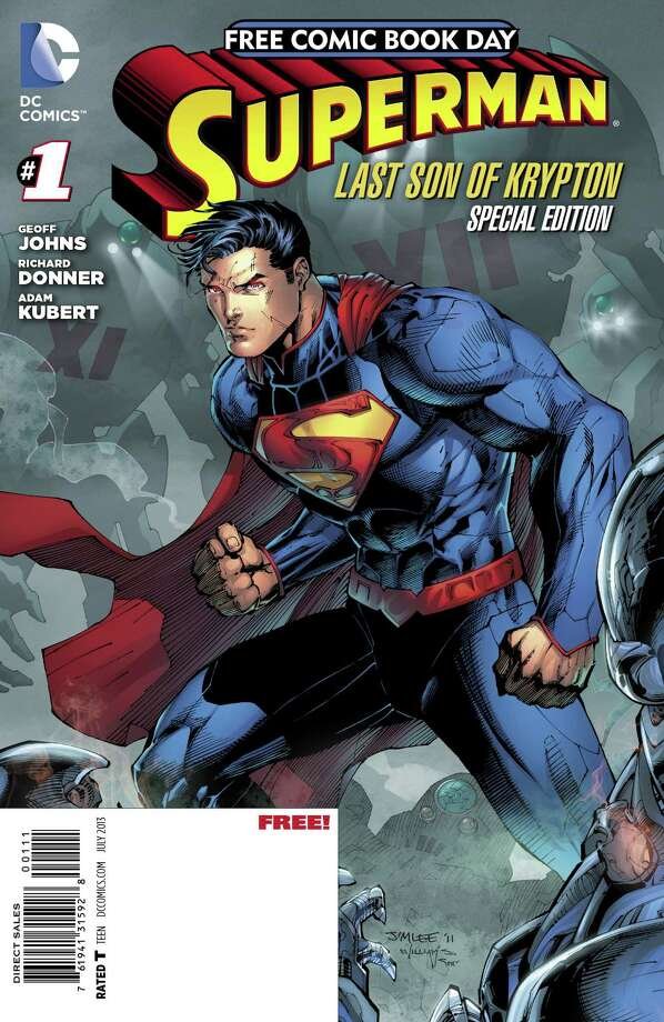 "DC Comics ""Superman: Last Son of Krypton #1"" is among the titles that will be released on Free Comic Book Day, Saturday, May 4, 2013, which will be marked at several stores in the area, including A Timeless Journey in Stamford, Heroes Comics and Cards in Norwalk, Rogue Comics in Bridgeport and Alternate Universe in Milford and New Haven. For more information, visit http://www.freecomicbookday.com. Photo: Contributed Photo"